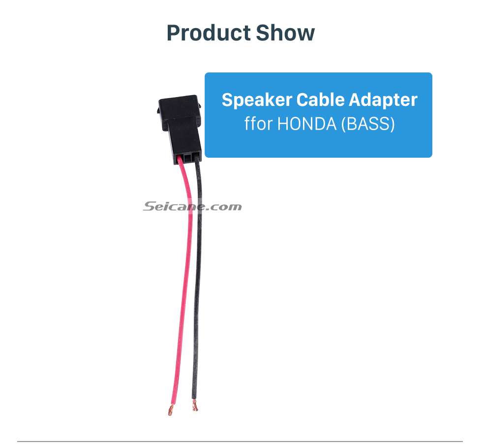 Product Show Top Audio Speaker Cable Wiring Harness Adapter for HONDA (BASS)