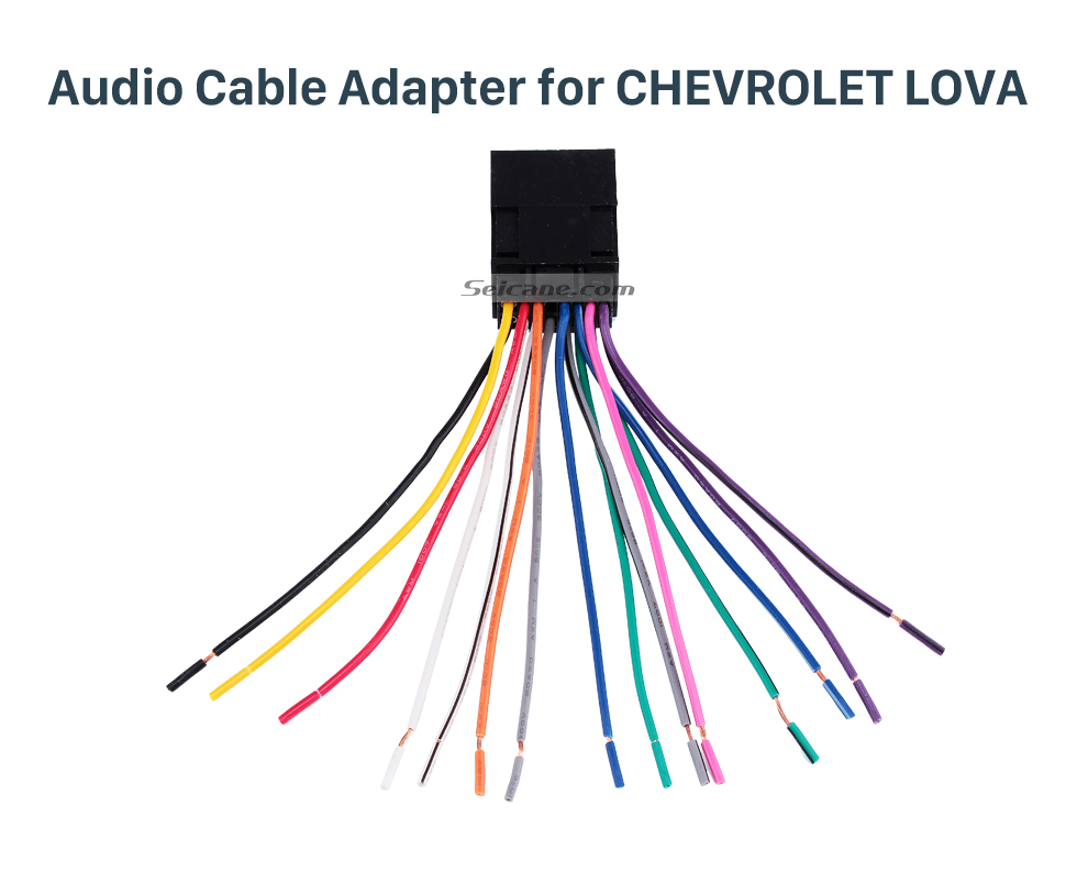 Audio Cable Adapter for CHEVROLET LOVA Car Stereo Audio Cable Wiring Harness Plug Adapter for CHEVROLET LOVA