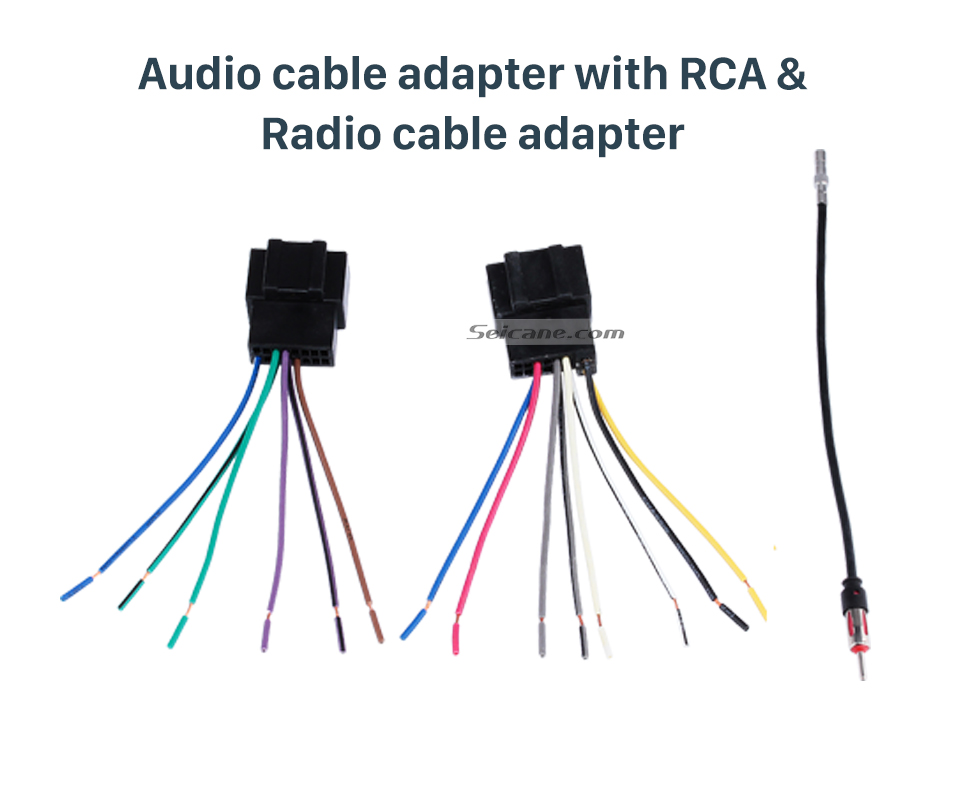 Audio cable adapter with RCA & Radio cable adapter High Quality Wiring Harness Adapter Audio Cable and Radio Plug Adapter Cable for CHEVROLET CAPTIVA