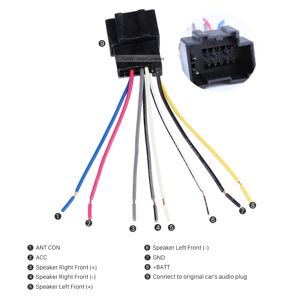 Seicane High Quality Wiring Harness Adapter Audio Cable and Radio Plug Adapter Cable for CHEVROLET CAPTIVA