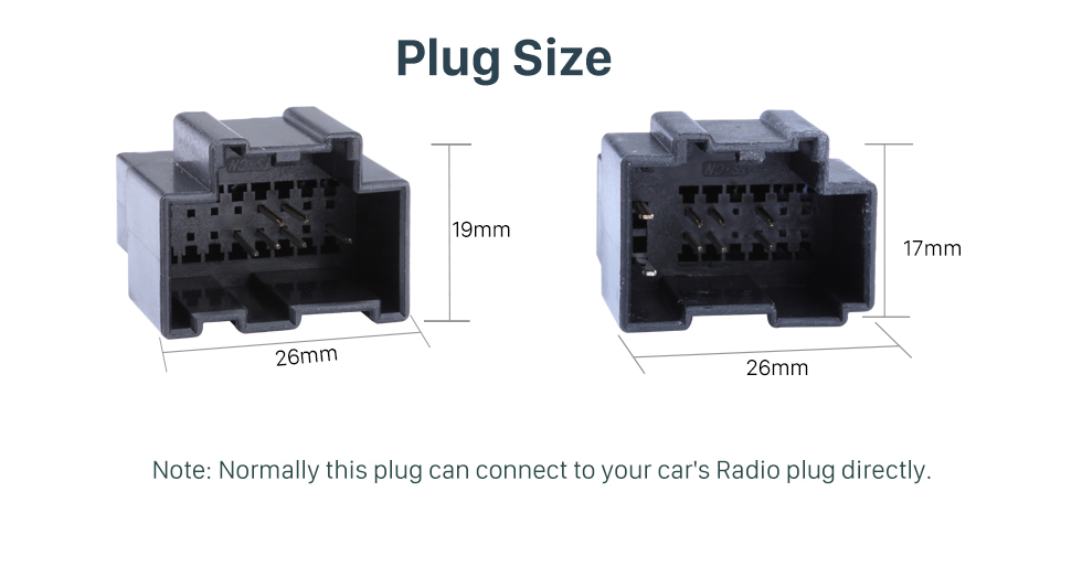 Plug Size High Quality Wiring Harness Adapter Audio Cable and Radio Plug Adapter Cable for CHEVROLET CAPTIVA