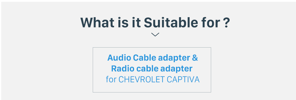 What is it Suitable for? High Quality Wiring Harness Adapter Audio Cable and Radio Plug Adapter Cable for CHEVROLET CAPTIVA