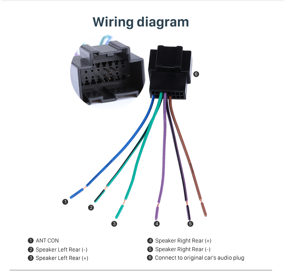 Wiring diagram High Quality Wiring Harness Adapter Audio Cable and Radio Plug Adapter Cable for CHEVROLET CAPTIVA