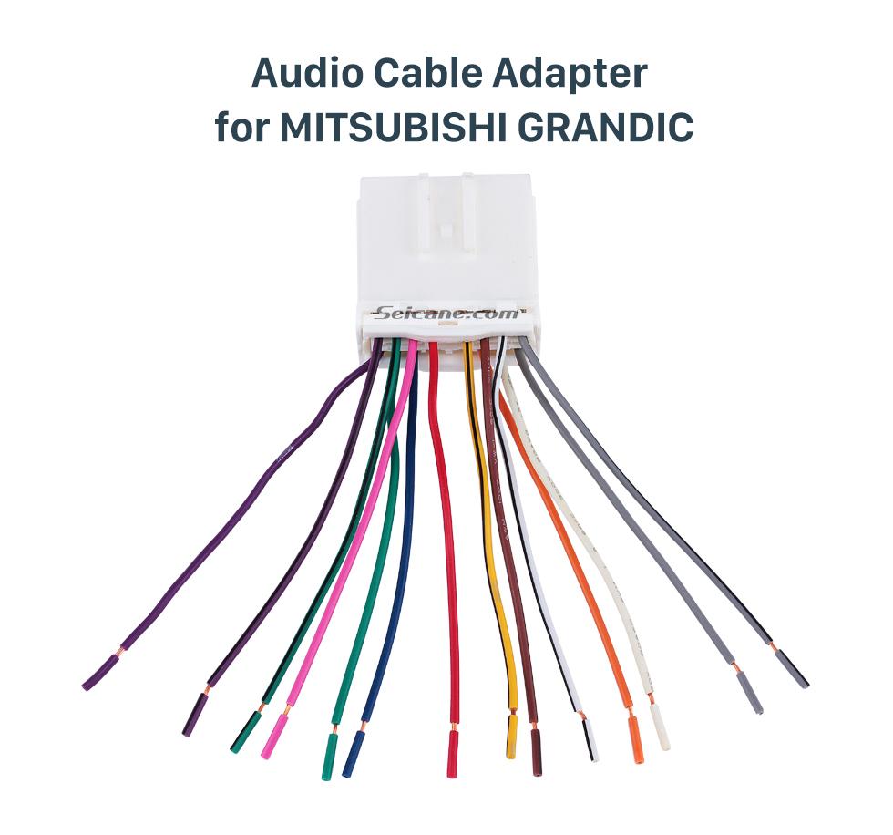 Audio Cable Adapter for MITSUBISHI GRANDIC Top Wiring Harness Plug Adapter Audio Cable for MITSUBISHI GRANDIC