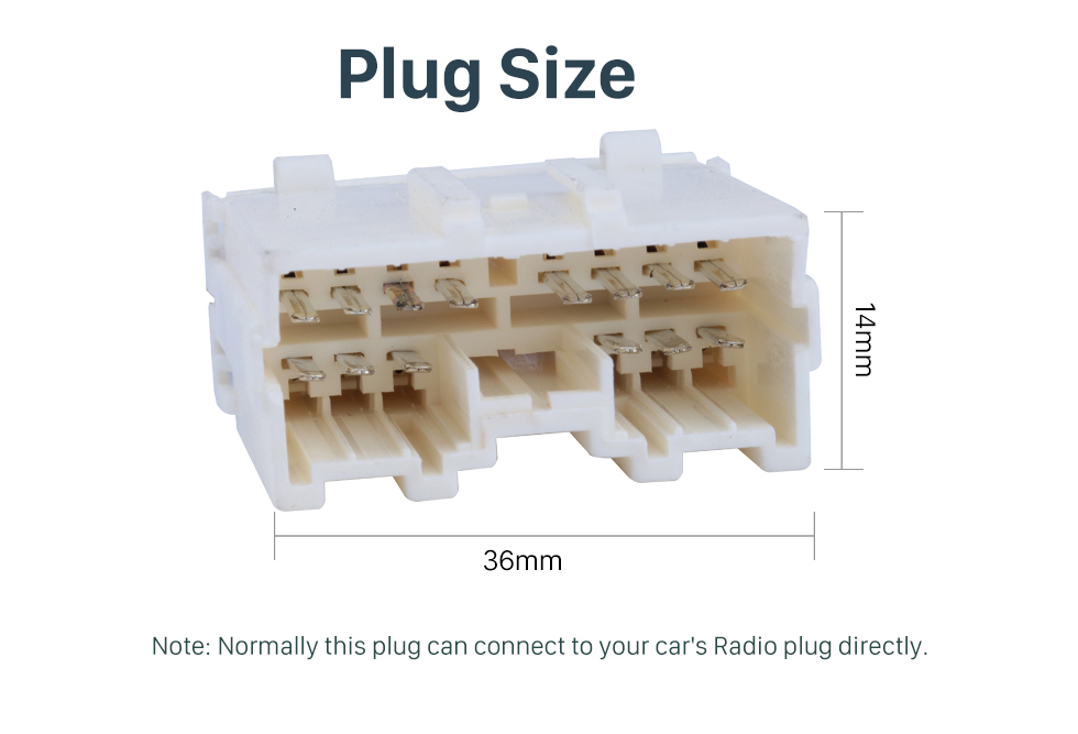 Plug Size Top Wiring Harness Plug Adapter Audio Cable for MITSUBISHI GRANDIC