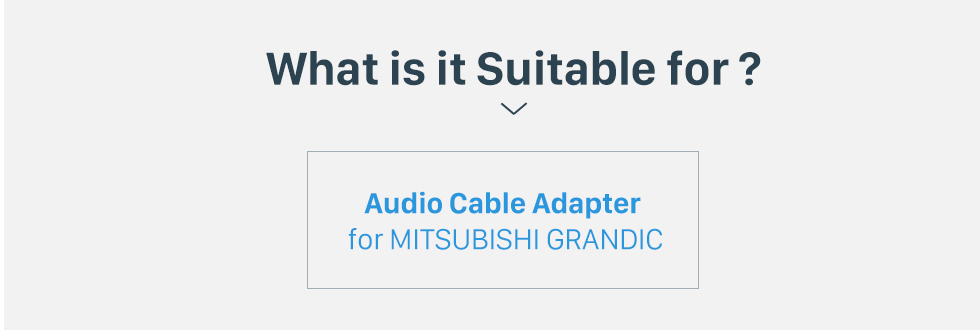 What is it Suitable for? Top Wiring Harness Plug Adapter Audio Cable for MITSUBISHI GRANDIC