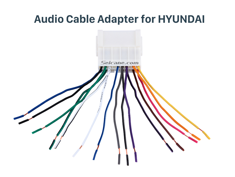 Hot Wiring Harness Adapter Audio Cable For Hyundai Elantra