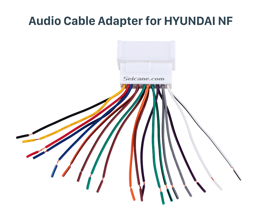 Audio Cable Adapter for HYUNDAI NF Adaptateur de câble audio de harnais de câblage automatique pour HYUNDAI NF / SantaFe / Accent / Kia Carens / Sedona / Optima / Rio