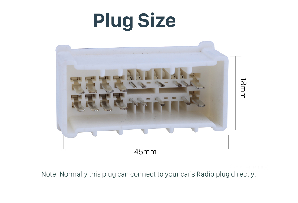 Plug Size Adaptador de cable de audio para arnés de automóvil para HYUNDAI NF / SantaFe / Acento / Kia Carens / Sedona / Optima / Rio