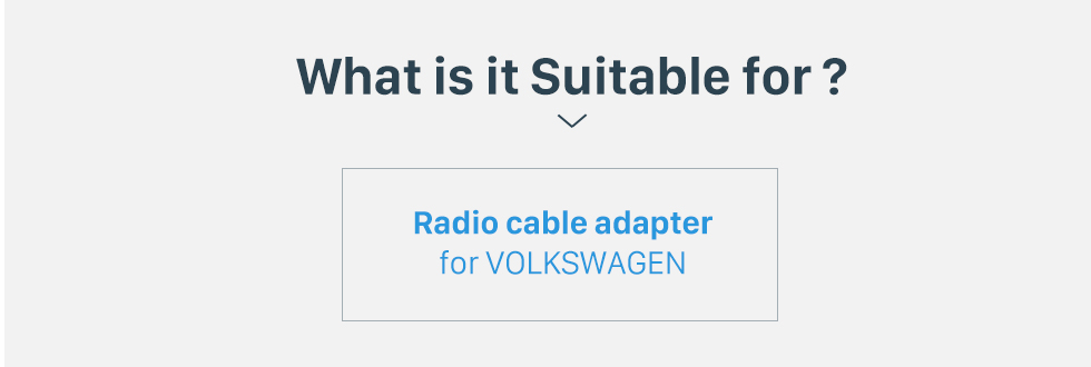 What is it Suitable for? Top Car Radio Antenna Cable Plug Adapter for VOLKSWAGEN/New Ford
