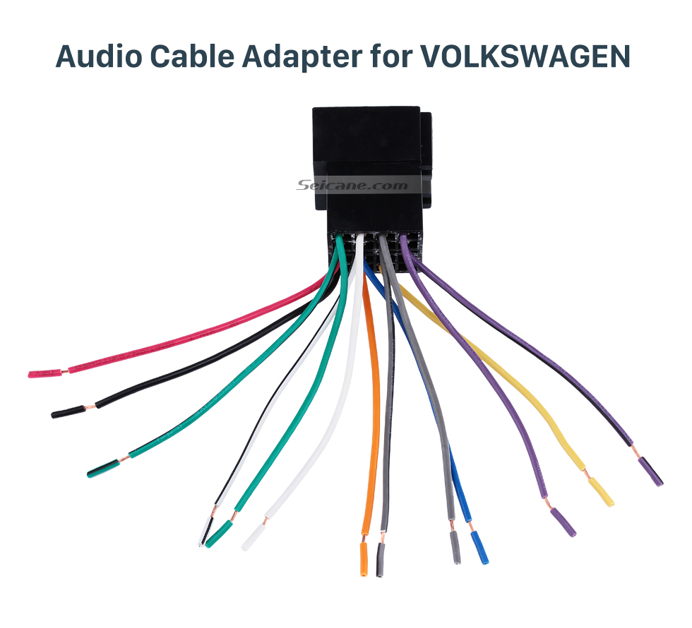 Audio Cable Adapter for VOLKSWAGEN Car Wiring Harness Plug Adapter Audio Sound Cable for VOLKSWAGEN POLO/Passat/Jetta/Bora/Santana/Golf/Touran/Octavia/Audi/Peugeot 307/Sharan/Zunchi/Buick FirstLand/Roewe