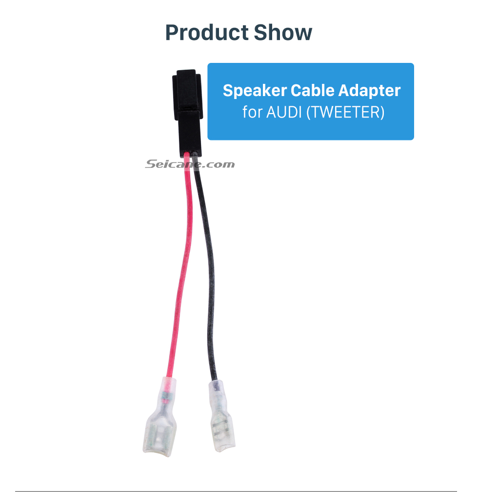 Product Show Car Stereo Wiring Harness Speaker Cable Plug Adapter for AUDI (TWEETER)