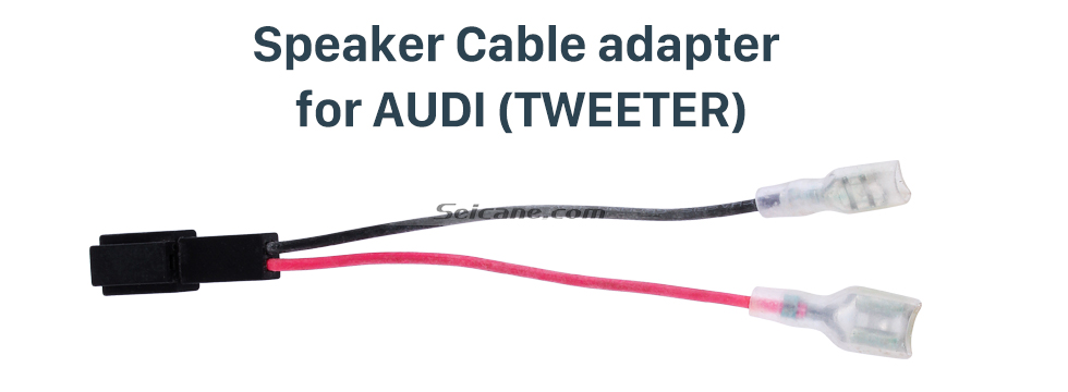 Speaker Cable adapter for AUDI(TWEETER) Cable de altavoz de cableado estéreo de coche Adaptador de enchufe para AUDI (TWEETER)