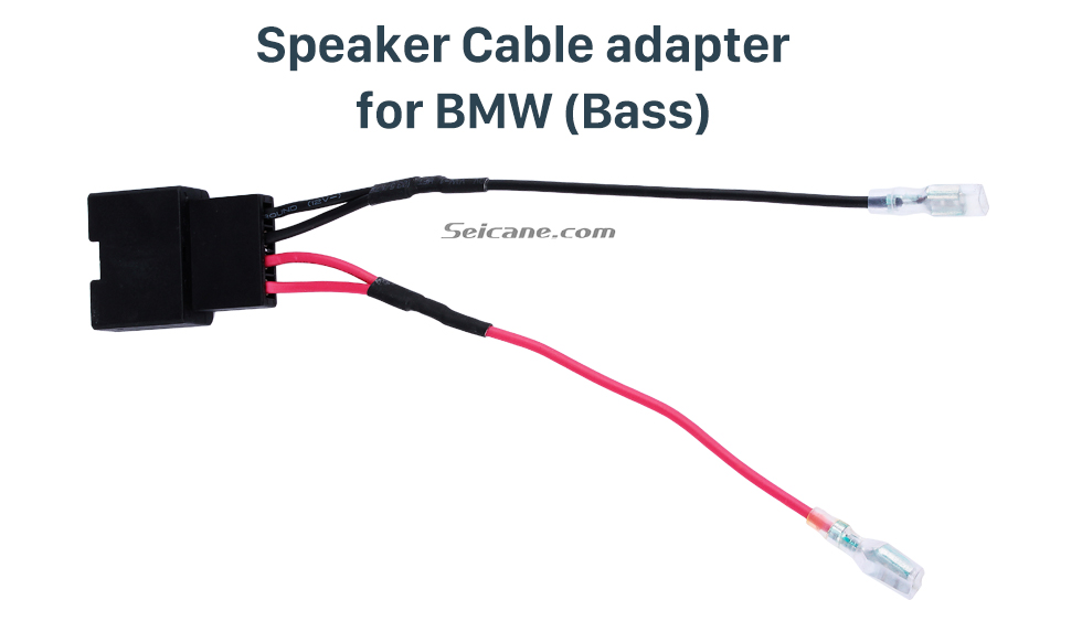 Speaker Cable adapter for BMW(Bass) Hot sale Auto Car Wiring Harness Plug Adapter Speaker Sound Cable for BMW (Bass)