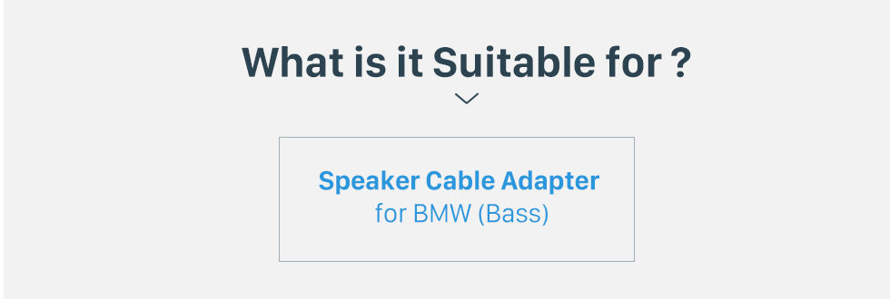 What is it Suitable for? Hot sale Auto Car Wiring Harness Plug Adapter Speaker Sound Cable for BMW (Bass)