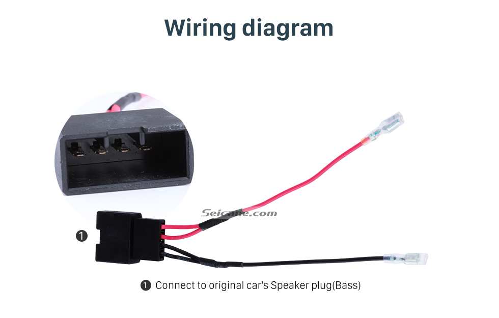 Wiring diagram Hot sale Auto Car Wiring Harness Plug Adapter Speaker Sound Cable for BMW (Bass)
