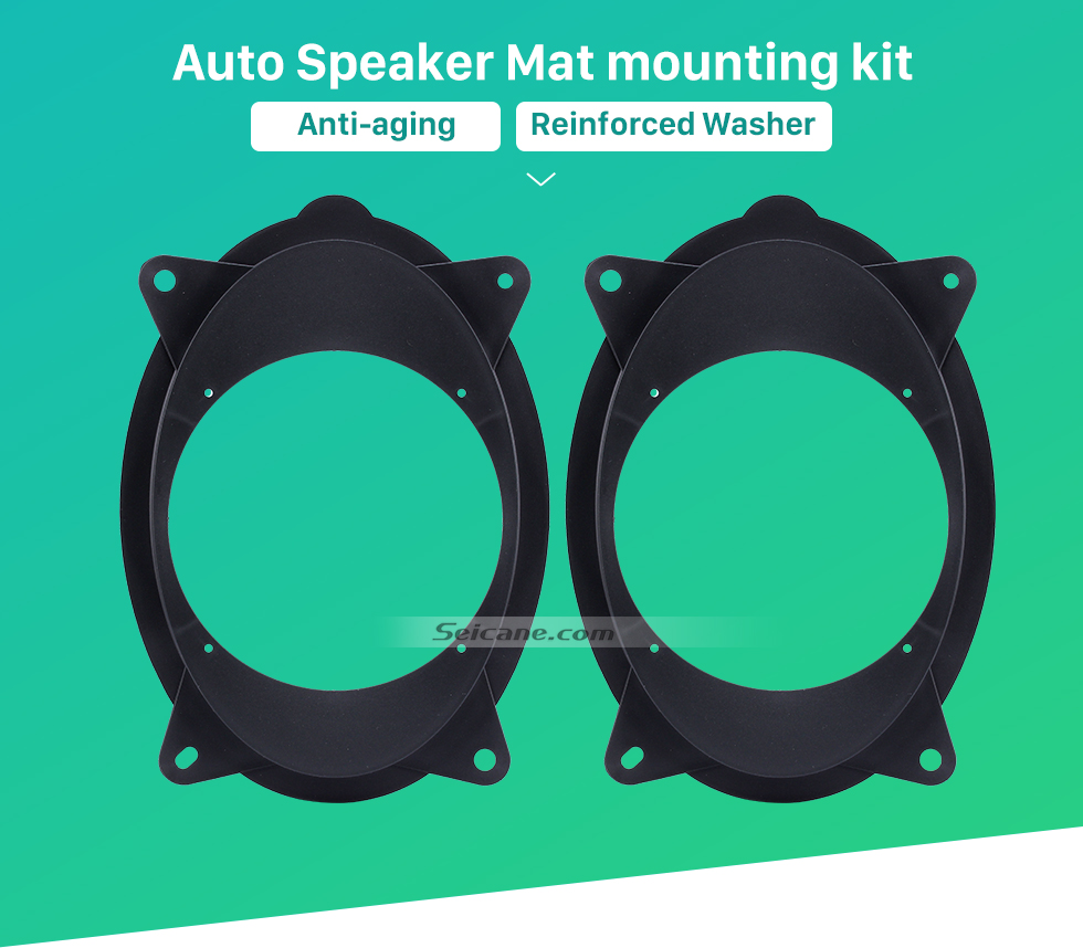 Seicane Top Quality Plates Bracket Front Speaker Mat for 2006-2011 Toyota Highlander (Hollow)