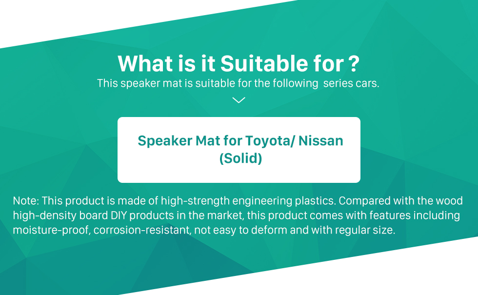 Seicane High Quality Solid Car Speaker Mat Bracket for Toyota/Nissan