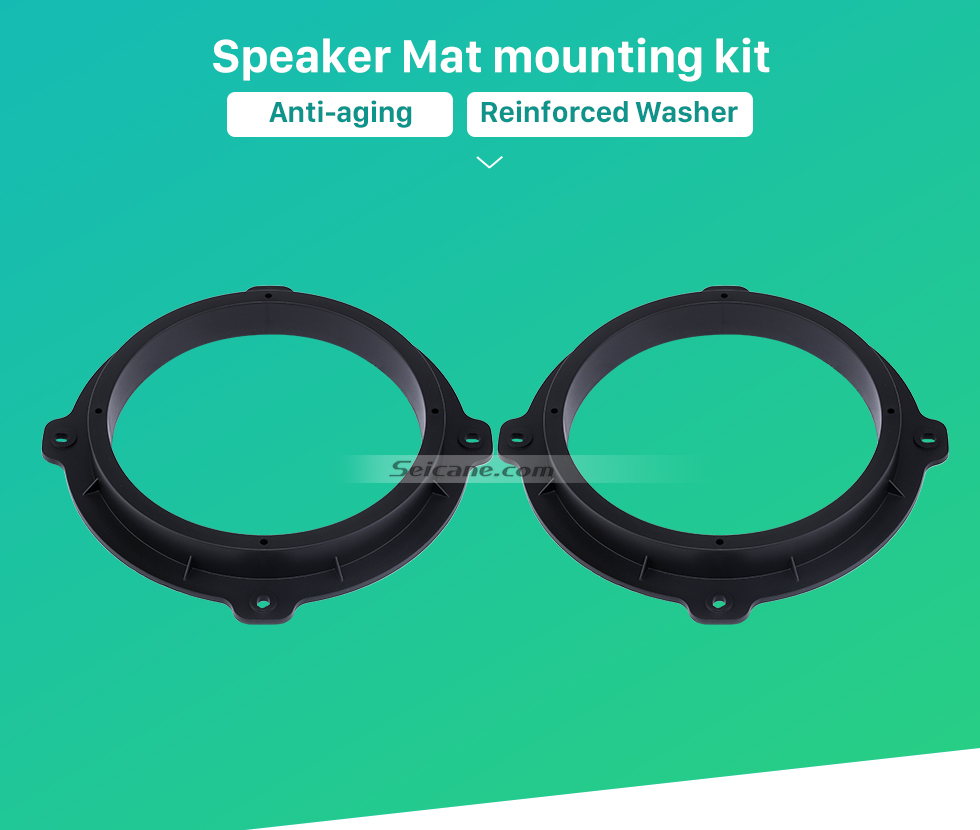 Seicane High Quality Ring Speaker Mat Bracket for 2012 Hyundai IX35