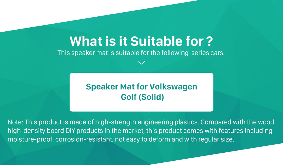 What is it Suitable for? Solid Car Plates Bracket Speaker Mat for Volkswagen Golf