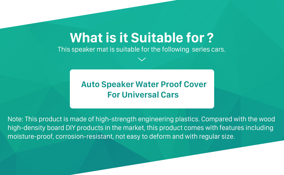 Seicane Black Speaker Water Proof Cover for Universal