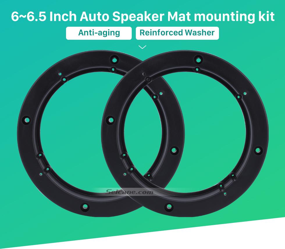 """Seicane 6~6.5"""" Ring Beveled Speaker Mat Bracket for General Use"""