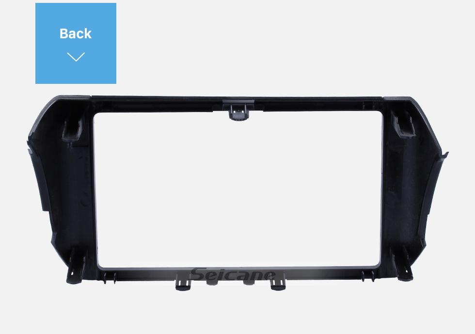 Seicane 2 Double DIN In Dash Car Stereo Radio Fascia Panel Install Dash Bezel Trim Kit Cover Trim Frame For 2016 2017 2018 TOYOTA INNOVA No Gap