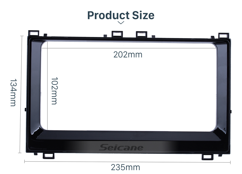 Seicane In Dash Car Stereo Fascia Panel Radio Install Frame Dash Bezel Trim kit Mount Kit For 2017+ Toyota Corolla Altis 2 Double DIN No Gap