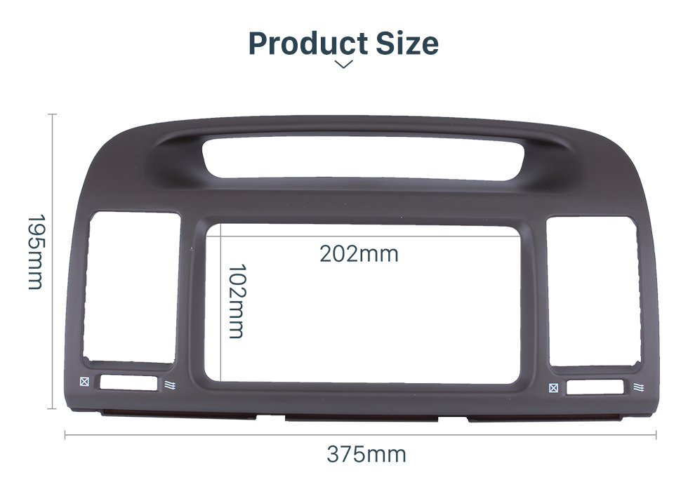 Seicane In Dash Car Stereo Radio Fascia Panel Install Frame Dash Bezel Trim kit Cover Trim For 2000-2003 TOYOTA CAMRY WITH HOLE 2 Double DIN No Gap