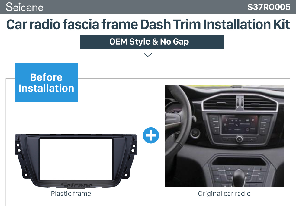 Seicane In Dash Car Stereo Radio Fascia Panel Installation Kit Cover Frame For 2015 2016 2017 ROVER MG GS 2 Double DIN Trim Kit No Gap