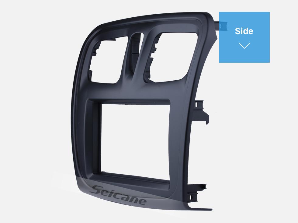 Seicane In Dash Car Stereo Radio Fascia Panel Install Frame Dash Bezel Trim kit Cover Trim For 2015-2018 Renault Sandero Logan 2 Double DIN OEM Style