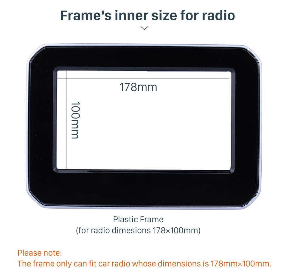 Seicane 2 Double DIN In Dash Car Stereo Radio Fascia Panel Dash kit Cover Trim Frame For 2017+ SUZUKI IGNIS No Gap