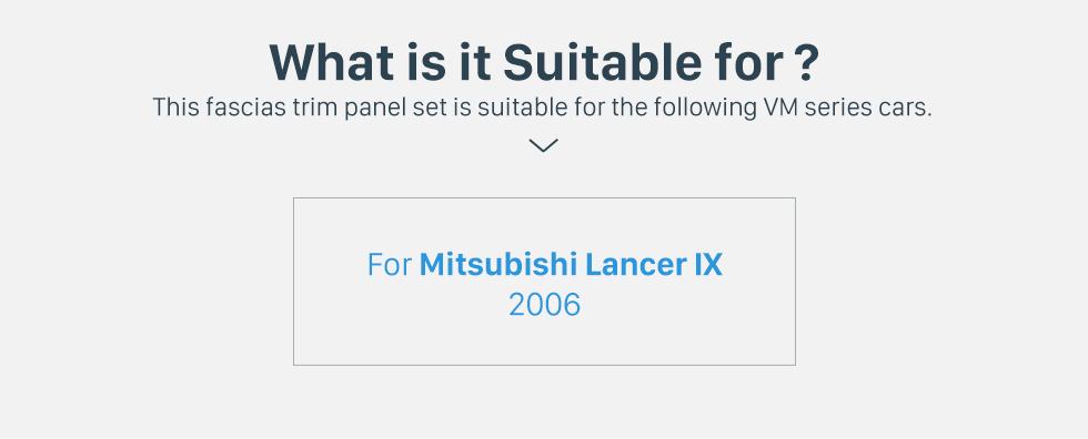 Seicane In Dash Car Stereo Radio Fascia Panel Installation Kit Cover Frame For 2006 Mitsubishi Lancer IX Double DIN Trim Kit No Gap