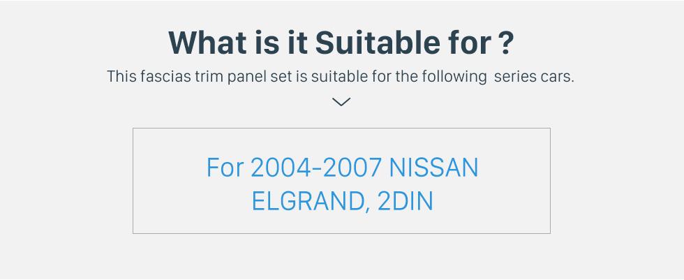 Seicane Double Din Car Radio Frame Plastic Fascia Dash Panel for 2004-2007 NISSAN ELGRAND Install Dash Bezel Cover Trim Kit No gap