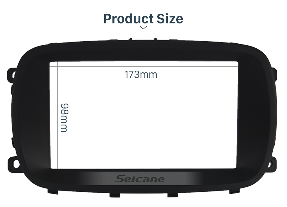 Seicane In Dash Car Stereo Radio Fascia Panel Install Frame Dash Bezel Trim kit Cover Trim For 2015 FIAT 500X Double DIN OEM Style