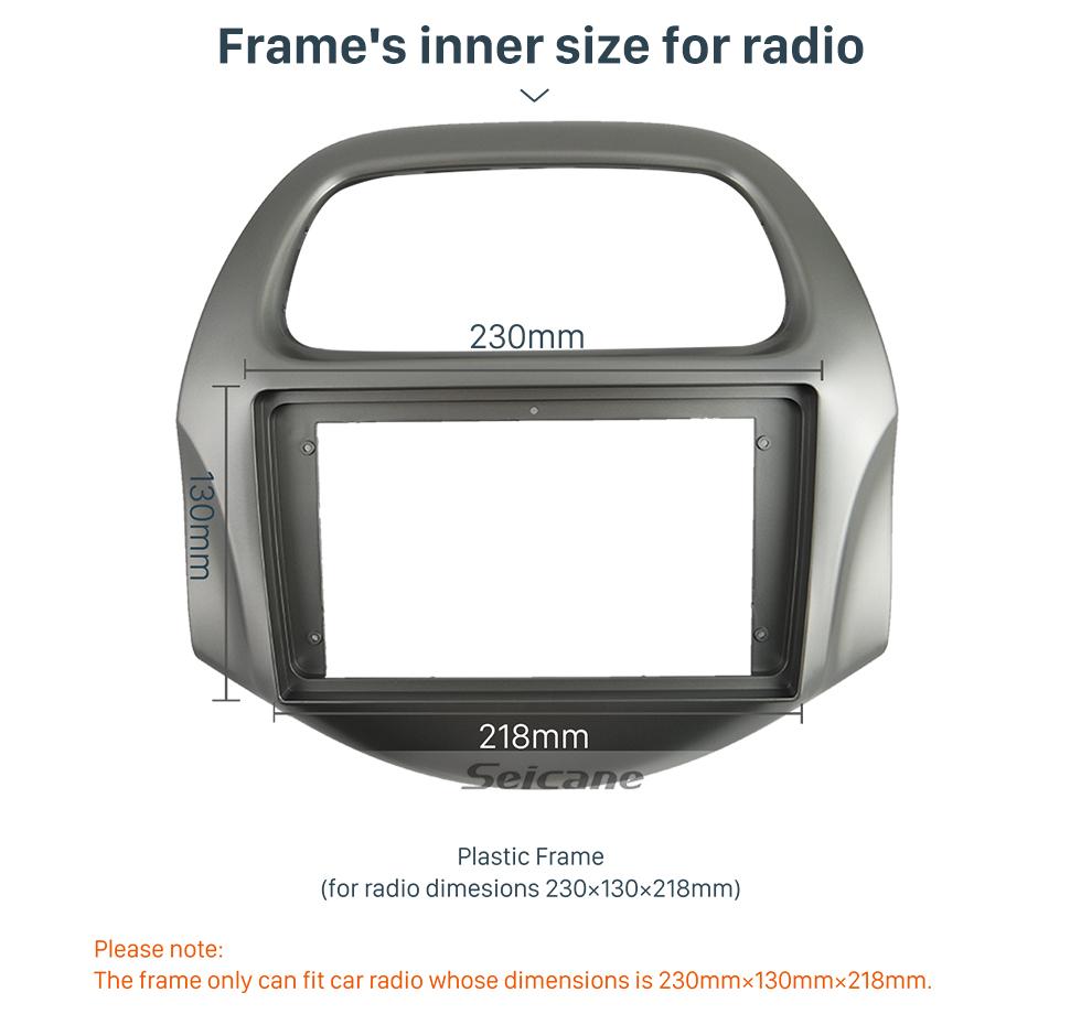 Seicane Car Stereo Radio Fascia Panel Install Dash Bezel Trim Mount Kit For 2018+ Daewoo Matiz Chevrolet Spark Baic Beat OEM style No gap