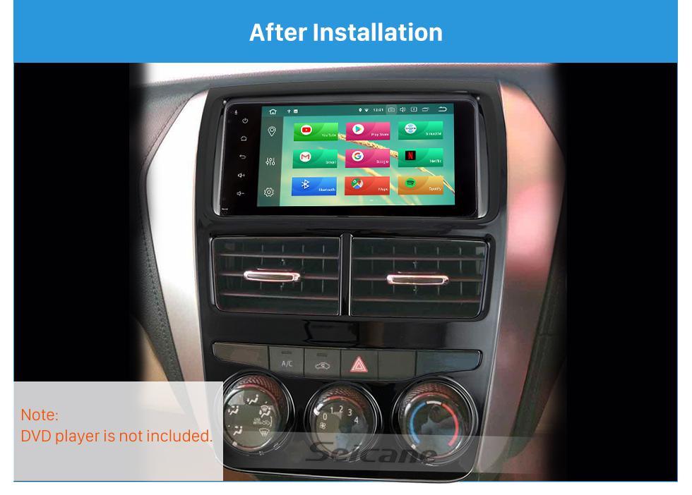 Seicane In Dash Car Stereo Fascia Panel Radio Install Frame Dash Bezel Trim kit Mount Kit For 2017 TOYOTA YARIS (RHD, LOW-END, UV BLACK) 2 Double DIN OEM Style