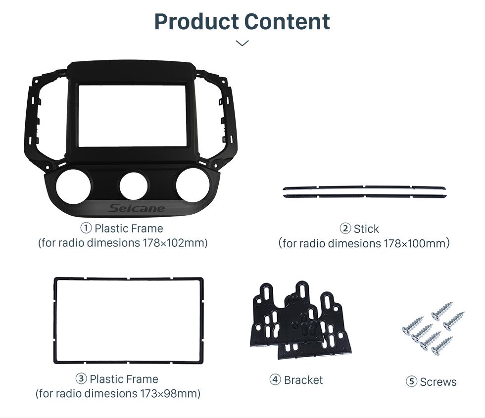 Seicane Top Quality 2DIN GM Chevrolet ONIX Cobalt Left Hand Drive Car Radio Fascia Dash Panel Frame Audio Refit