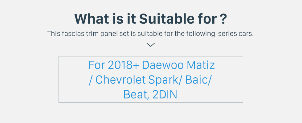 Seicane Double Din 9 inch 2018 Daewoo Matiz/Chevrolet Spark/Baic/Beat Fascia Frame Dash Mount Kit Trim Panel