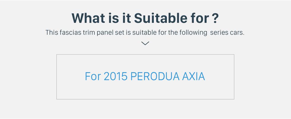 Seicane BLACK In Dash Fascia Panel Trim Frame Installation Kit For 9 inch 2015 PERODUA AXIA OEM Style