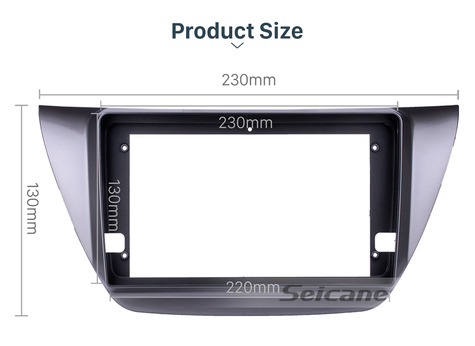 Seicane GREY Frame for 9 inch 2006 MITSUBISHI LANCER IX Audio Dash Trim Fascia Panel Kit