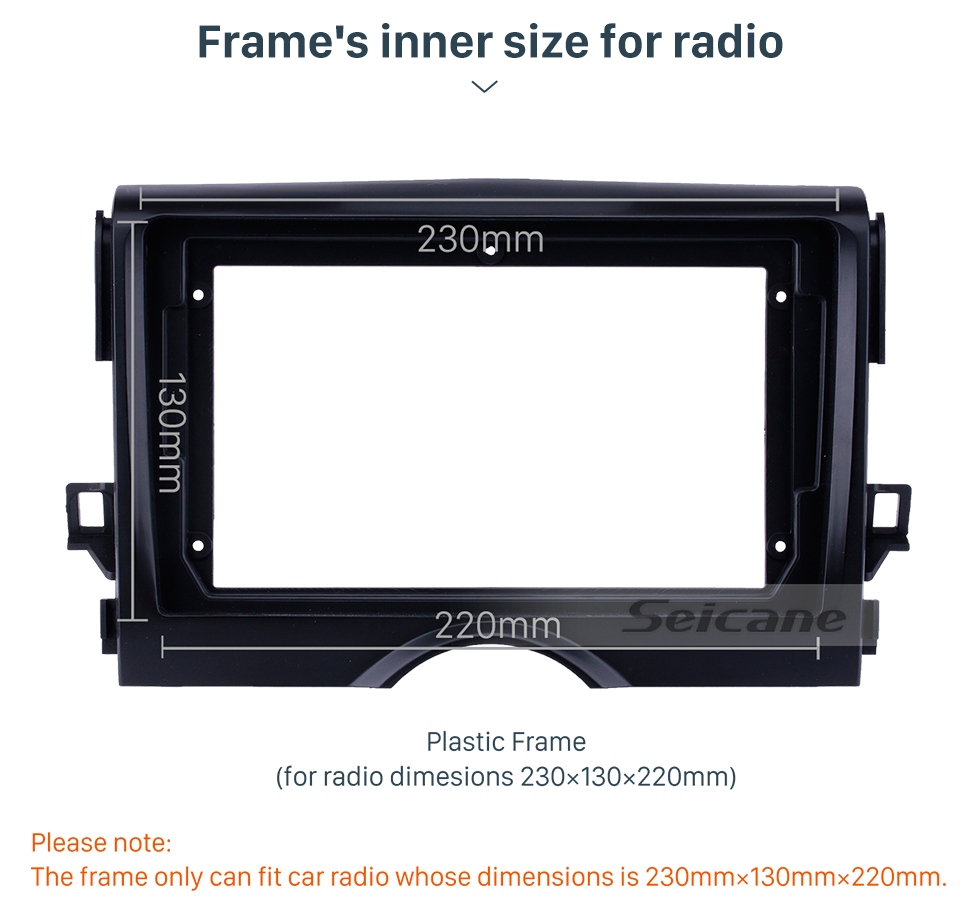 Seicane Fascia Panel Install Dash Bezel Trim Mount Kit For 9 inch 2012 TOYOTA REIZ/ MARK X OEM style No gap