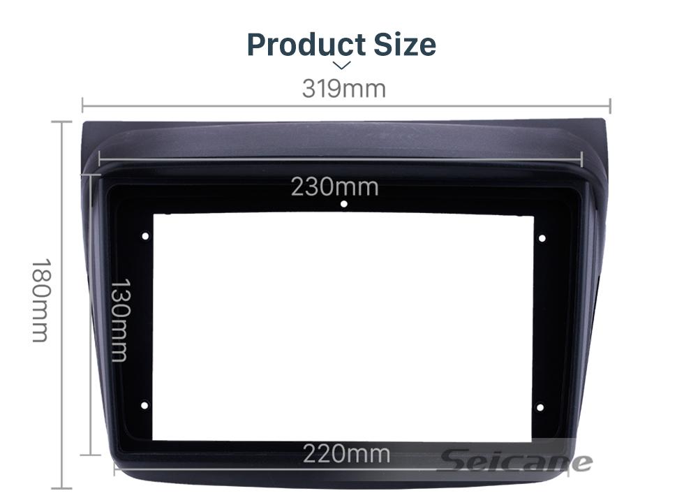 Seicane OEM style 9 inch MITSUBISHI PAJERO SPORT Fascia Frame Panel in Dash Trim Installation Mount Kit