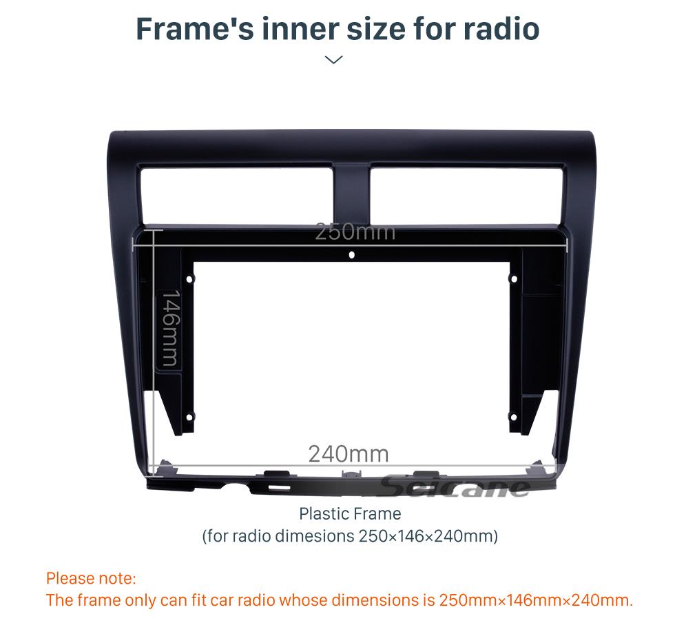 Seicane Black Frame for 10.1 inch 2012 PROTON MYVI Audio Dash Trim Fascia Panel Kit