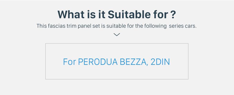 Seicane UV Black Frame for 10.1 inch PERODUA BEZZA Audio Dash Trim Fascia Panel Kit