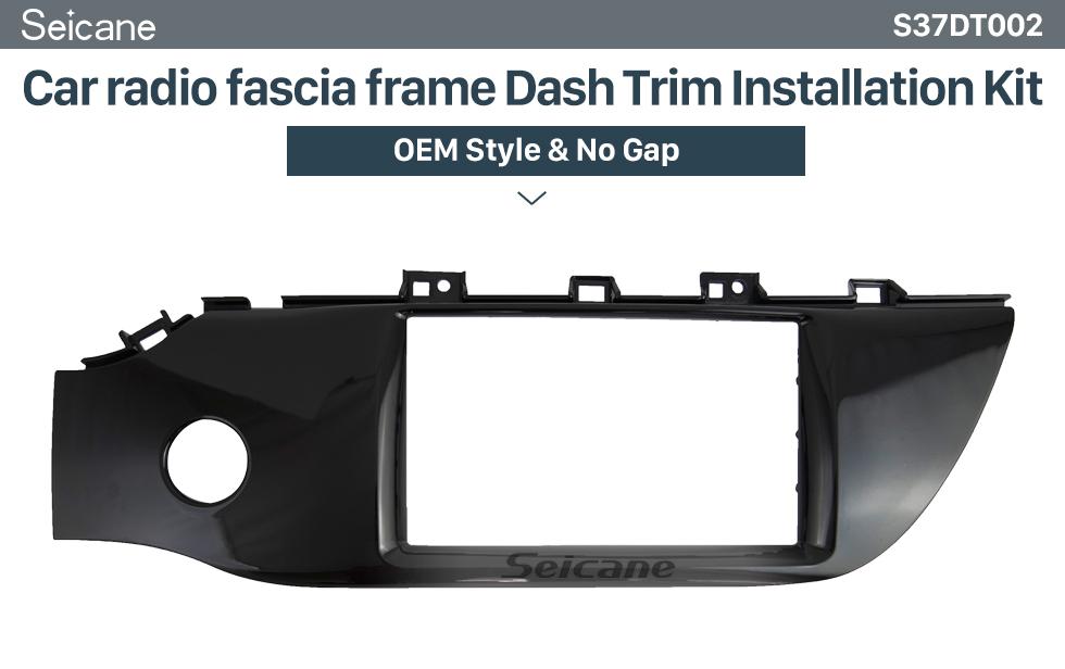 Seicane BLACK 2 DIN In Dash Car Radio Fascia Panel Trim Frame Installation Kit For 2019 DATSUN MI-DO(LHD) OEM Style