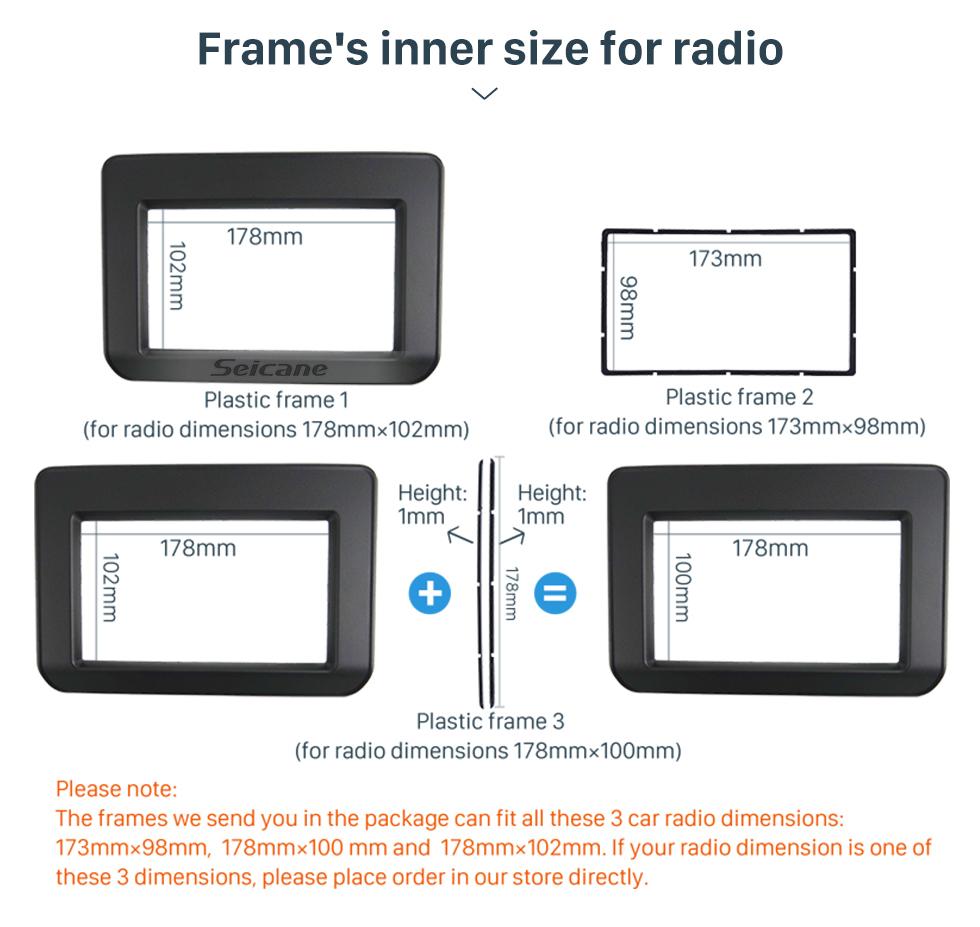 Seicane Double Din 2018 Suzuki Ertiga Car Radio Fascia Frame Dash Mount Kit Trim Panel