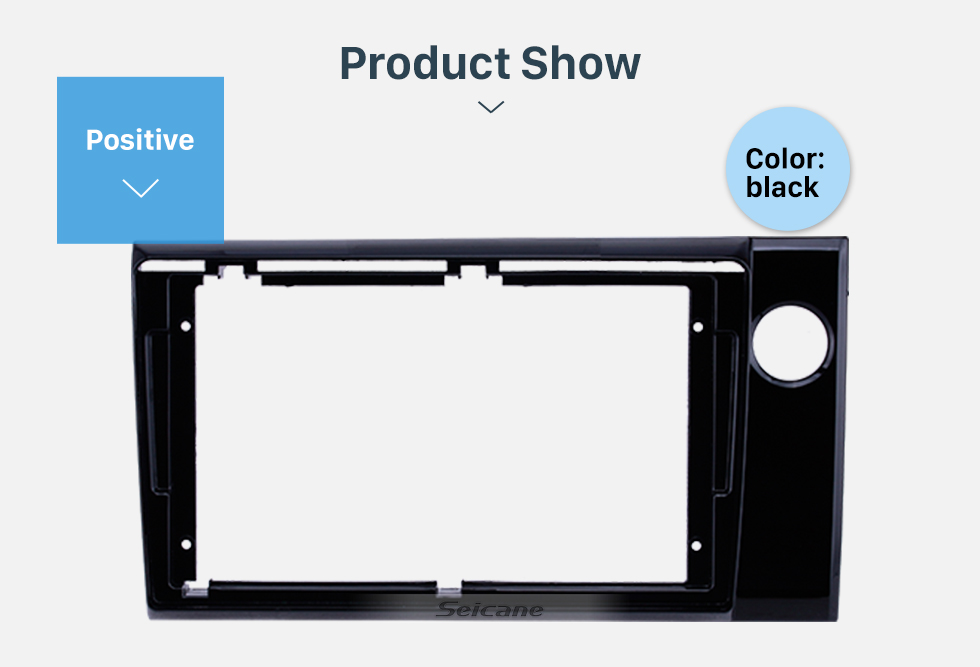 Seicane UV Black Frame 9 inch for 2017 HONDA BRV RHD Audio Dash Trim Fascia Panel Kit
