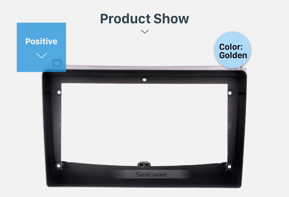 Seicane Golden In Dash Fascia Panel Trim Frame Installation Kit For 9 inch 2006-2010 Proton Gen II OEM Style