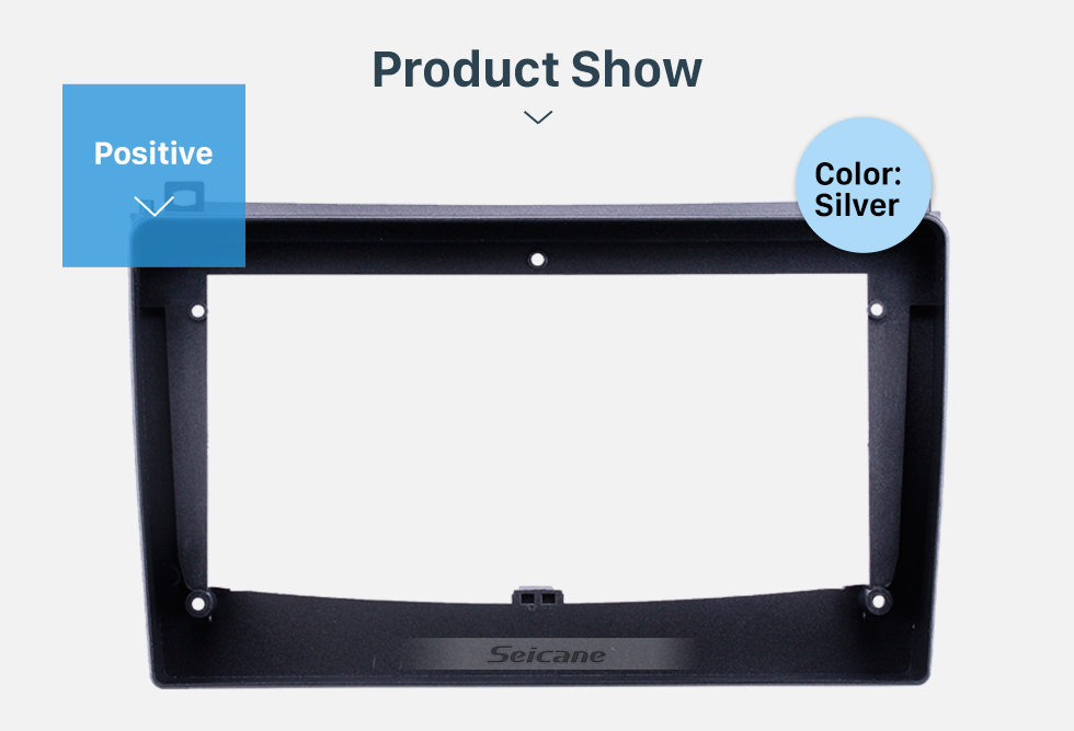 Seicane Silver Frame for 9 inch 2006-2010 Proton Gen II Audio Dash Trim Fascia Panel Kit